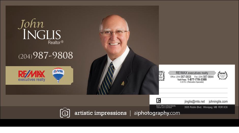 Winnipeg Professional Portrait Photographer Photography Studio Real Estate Pictures Photos Business Cards John Inglis Remax