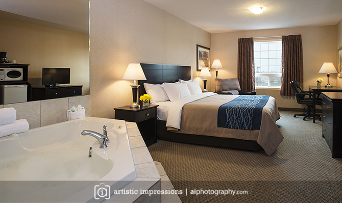 Winnipeg Commercial Hotel Photographer Hospitality Photography Red Deer
